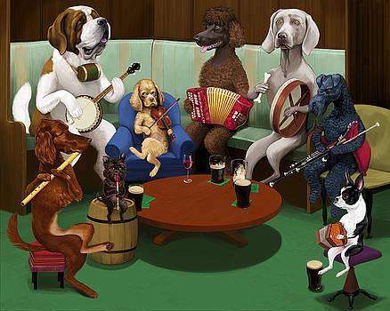 Dogs Playing Traditional Irish Music by Jon Hammer