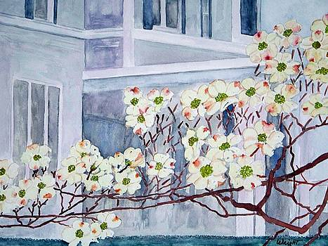 Dogwood Time In Oldtown by Larry Wright