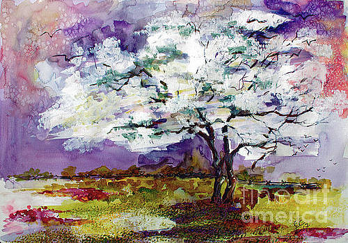 Dogwood Tree Spring Landscape by Ginette Callaway
