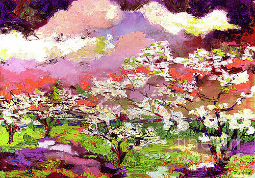 Ginette Callaway - Impressionist Oil Dogwood Trees