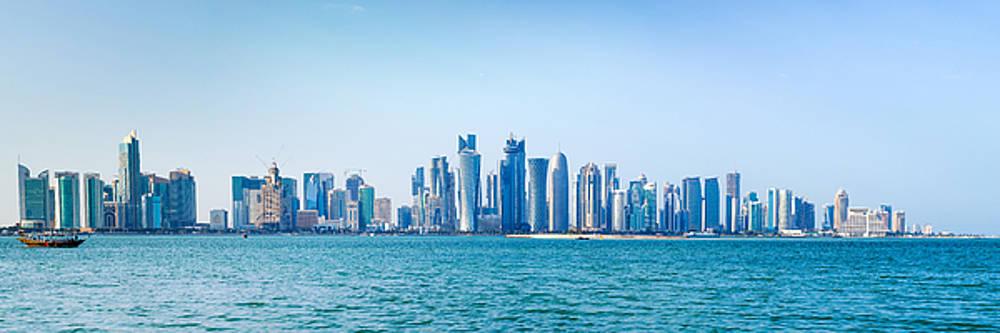Doha skyline 2015 by Paul Cowan