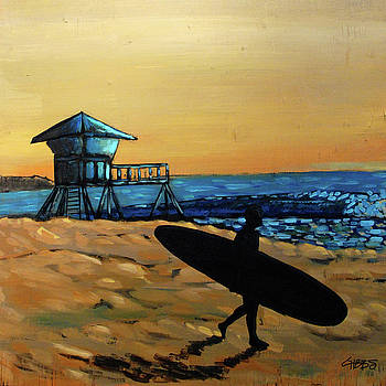 Doheny Sunset Surfer by Nathan Paul Gibbs