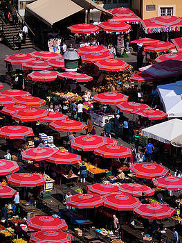 Dolac Market Umbrellas by Rae Tucker