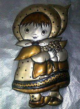 Doll with flowers by Jesna Jamal