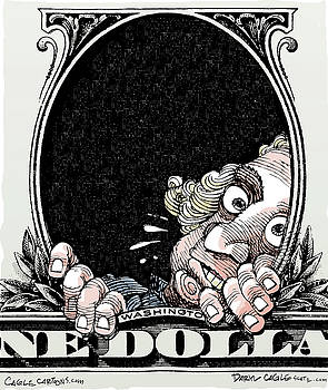 Dollar Fear by Daryl Cagle