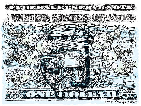 Dollar Submerged by Daryl Cagle