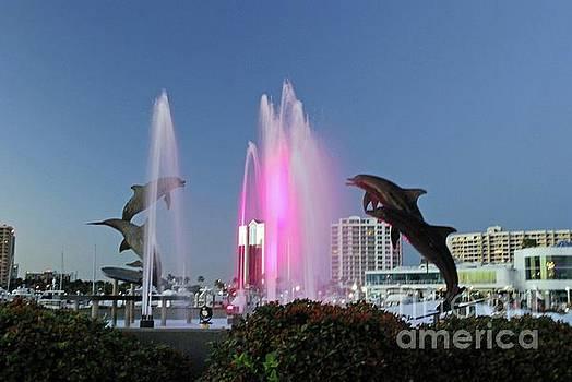 Gary Wonning - Dolphin Fountain at dusk