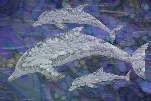 Dolphins - Beneath The Waves Series by Jack Zulli