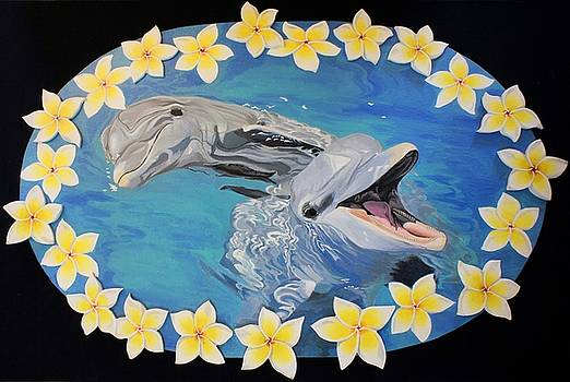 Dolphins by Chikako Hashimoto Lichnowsky