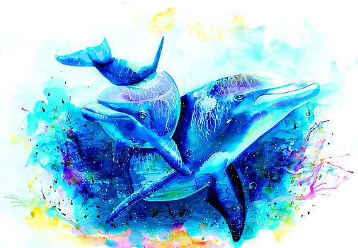 Dolphins by Isabel Salvador