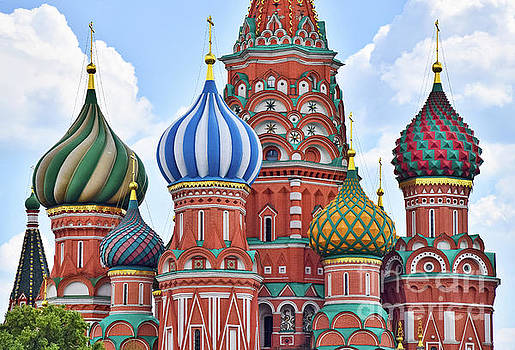 Domes of St. Basil by Steven Liveoak