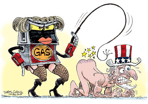 Dominating Gas Prices by Daryl Cagle