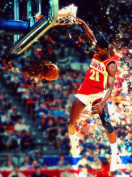 Dominique Wilkins - NBA Legend by Kai Saarto