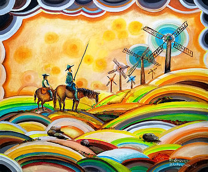Don Quixote de La Mancha and Sancho Panza by Radosveta Zhelyazkova