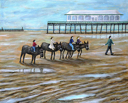 Donkey Rides on Lytham St Annes on Sea beach by Ronald Haber