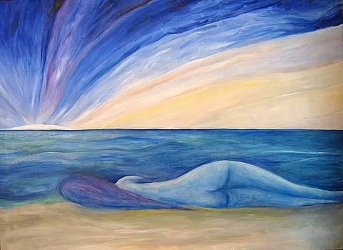 Donna blu. by Alberto V  Donati