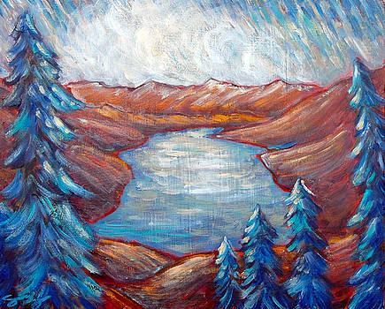 Donner Lake Fall Skies by Sara Zimmerman