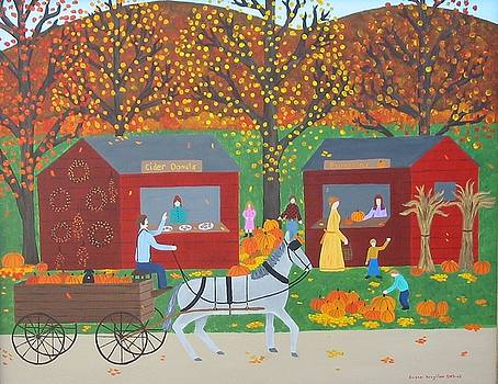 Donuts And Pumpkins by Susan Houghton Debus