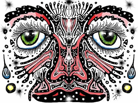 Doodle face by Darren Cannell