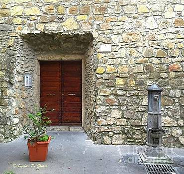 Door and Fountain  in Anzio Italy by Italian Art