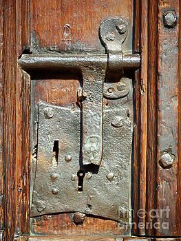 Door lock in York Minster England by Louise Heusinkveld