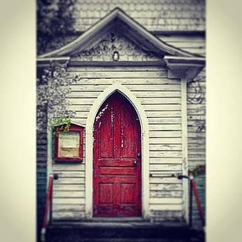Church With Red Door by Sharon Halteman