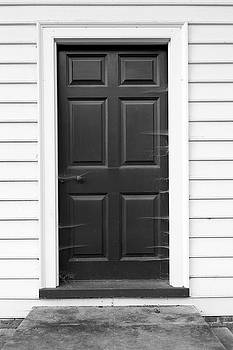 Door with Cobwebs in Black and White by Brooke T Ryan