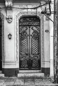 Wayne Moran - Doors of Cuba Yellow Door BW