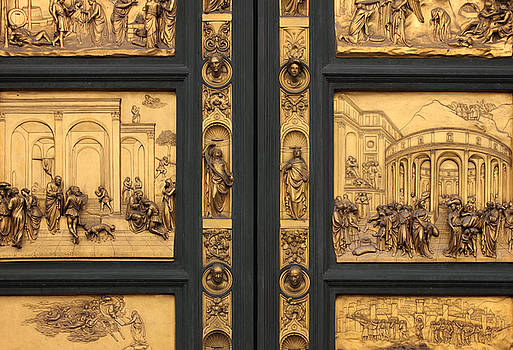 Doors of Paradise detail of The Florence Baptistry by Kiril Stanchev
