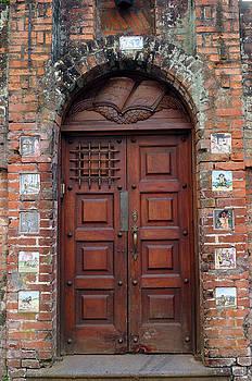 Reimar Gaertner - Doorway in Barrio Amon San Jose Costa Rica with tiles of Don Qui