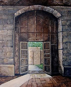 Doorway in Gubbio by Elaine Balsley