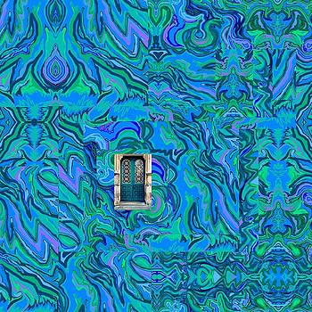 Doorway into Multi-Layers of Water Art Collage by Julia Woodman