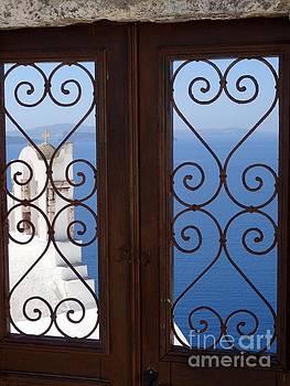Doorway to Heaven in Santorini by Mitzisan Art LLC