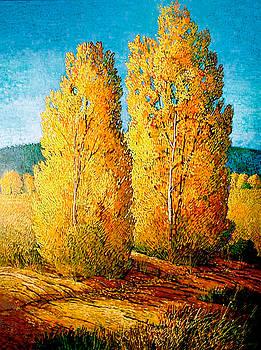 Dos Arboles De Taos by Donna Clair