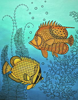 Dos Fishies by Stephanie Troxell