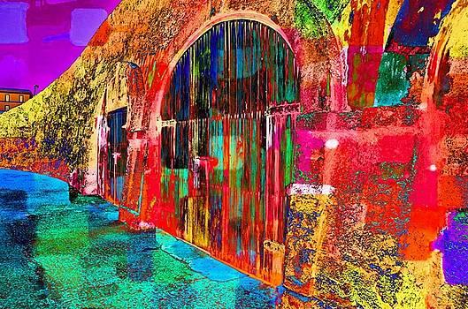 Dos puertas pintadas by Ricardo Dominguez