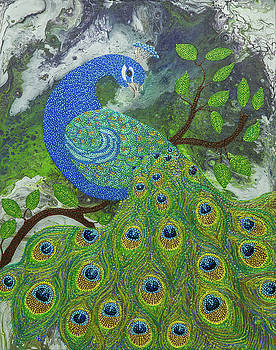 Dotted Peacock by Dee Carpenter