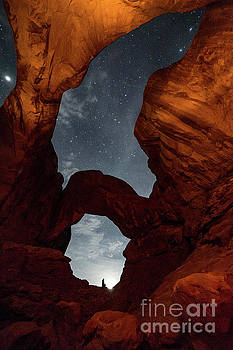 Double Arch Stars in Arches National Park by Tibor Vari