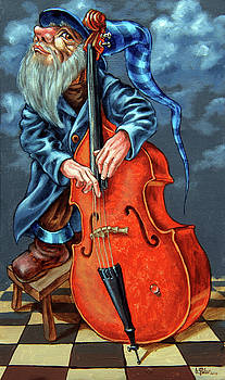 Double bass and bench by Victor Molev