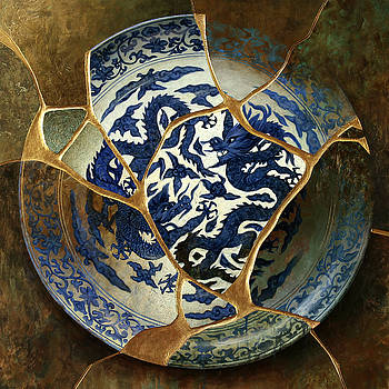 Double Dragon - Chinese Charger, ca.1500s by Bruno Capolongo