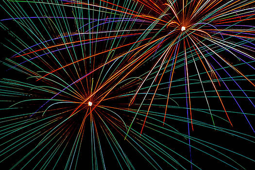 Double Fireworks by Lonnie Paulson