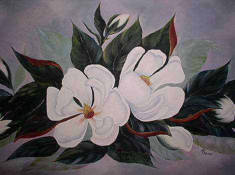 Double Magnolias by Monica Chiasson