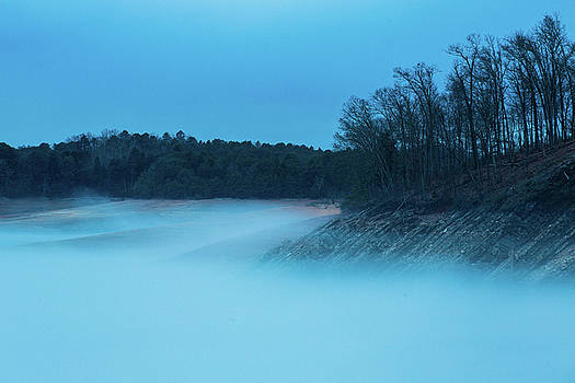 Douglas Lake Dandridge Tennessee In Fog by Carol Mellema