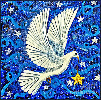 Dove with Star by Lise Winne