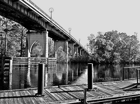 Down By The Bridge Black and White by Joey OConnor