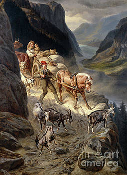 Down from the mountain by Knud Bergslien