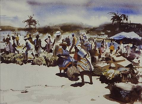 Down Island Banana Market by Charles Hawes