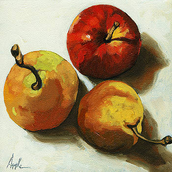 Down on Fruit - pears and apple still life by Linda Apple