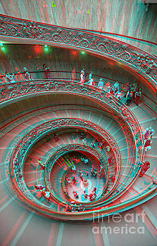 Down stairs anaglyph 3D by Stefano Senise