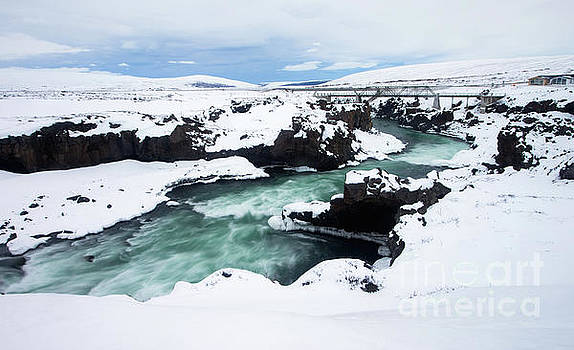 Downstream of Godafoss - Iceland in Winter by Matt Tilghman